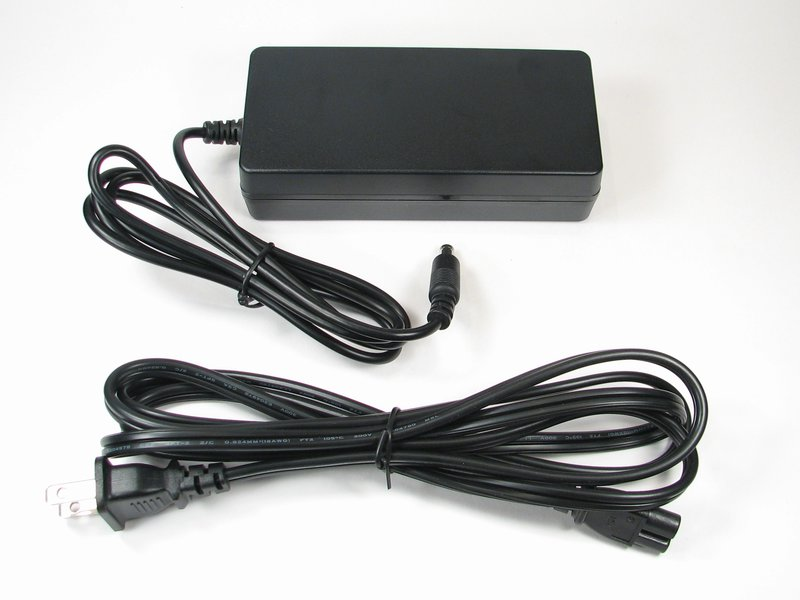 Large 24 V power supply, shown with US/Canada power cable