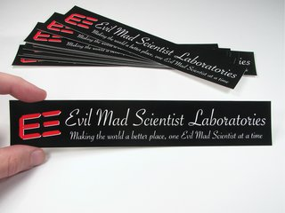 Evil Mad Scientist Stickers
