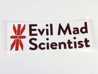Evil Mad Scientist logo stickers