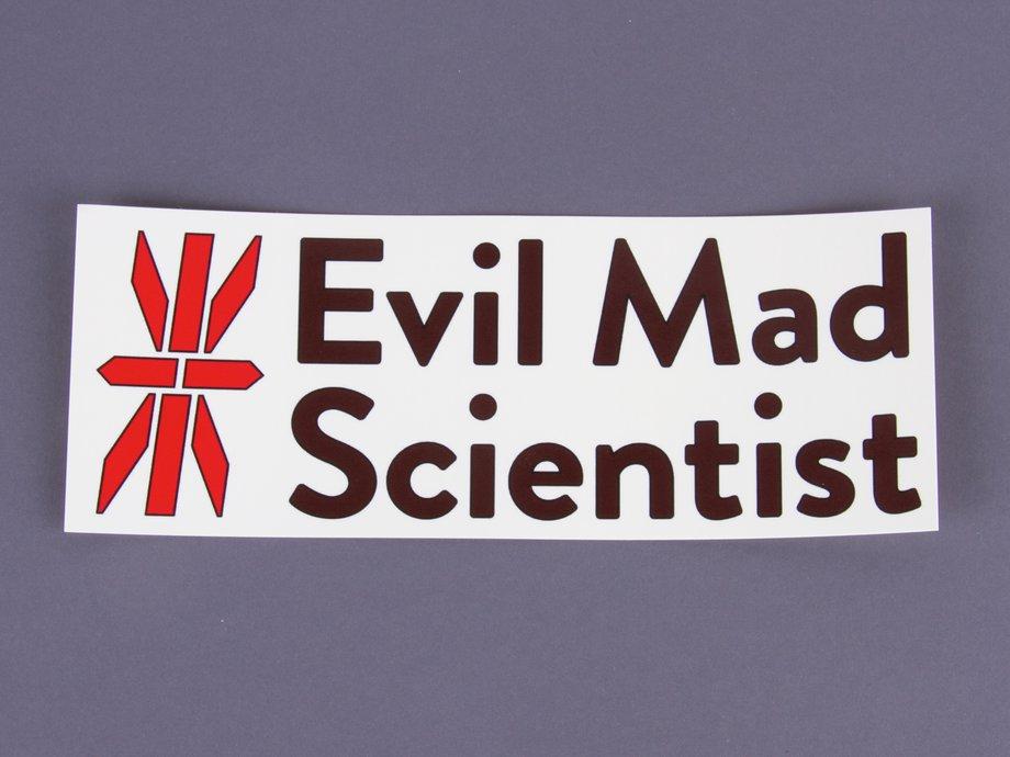Evil Mad Scientist Logo Stickers