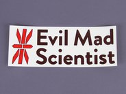 Evil Mad Scientist logo stickers.