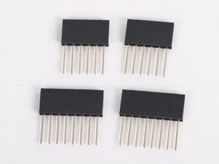 Stacking 6- and 8-pin sockets