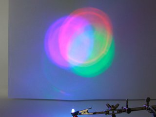 5 mm clear lens RGB LED with slow fading pattern