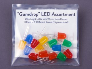 15 Piece Gumdrop LED Assortment