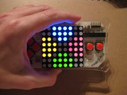 8x8 RGB Matrix Display, shown installed in Meggy Jr RGB