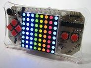 8x8 RGB Matrix Display, shown installed in Meggy Jr RGB