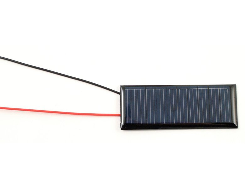 Solar cell with wire leads attached