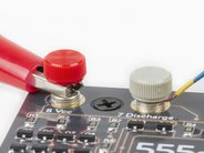Hook up with bare wires, alligator clips, or solder
