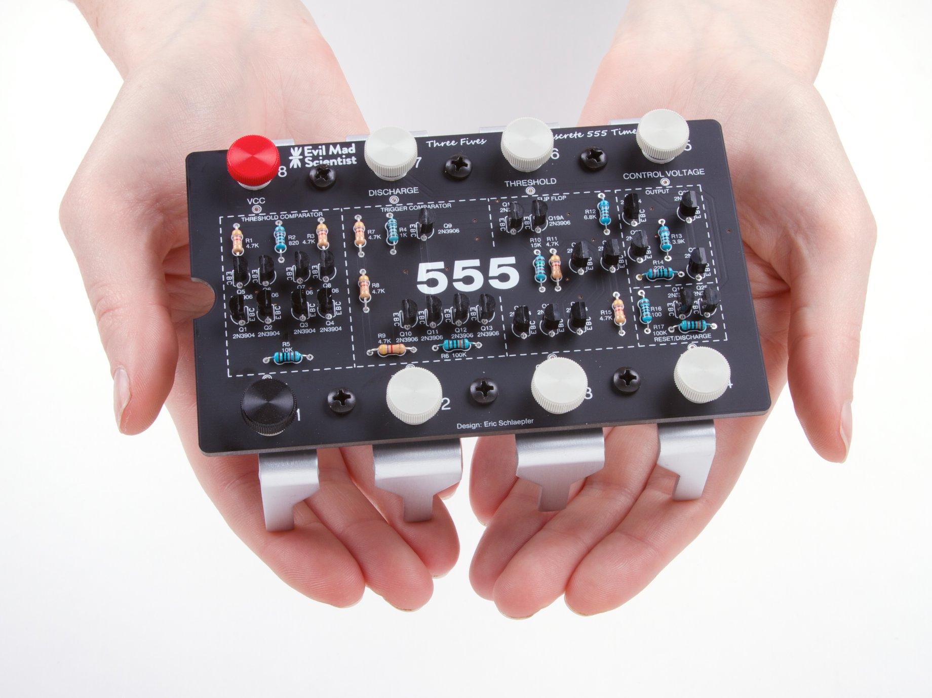 The Three Fives Kit A Discrete 555 Timer Create Circuit On Board However Before We Could Do Sku