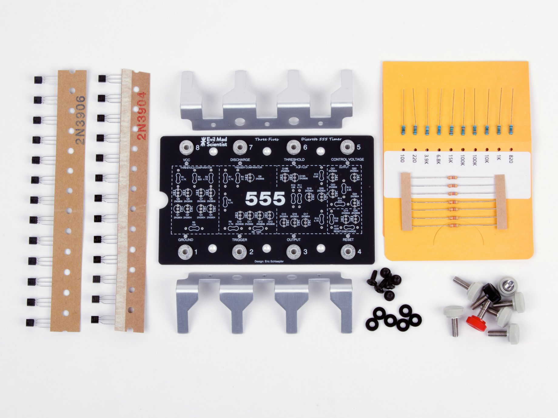 The Three Fives Kit A Discrete 555 Timer Circuit Timing Electronic Tutorial Sku
