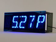 Alpha Clock Five Blue (shown with case, which is not included in the basic edition)