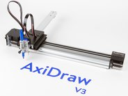 AxiDraw, shown with permanent marker