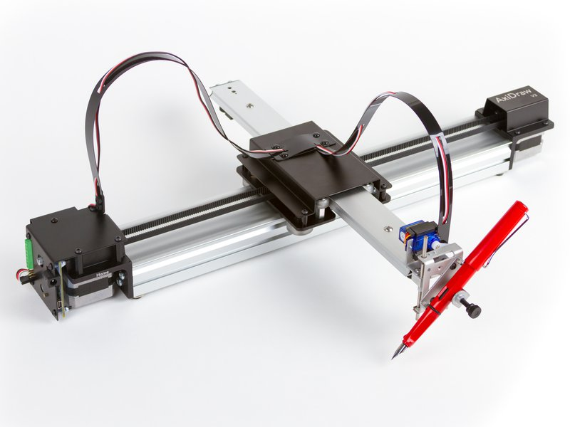 AxiDraw, shown with a fountain pen