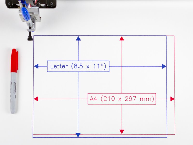 Printable area: US Letter + A4