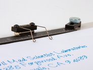 Magnetic Easel Closeup of spring clip, ruler, clamp