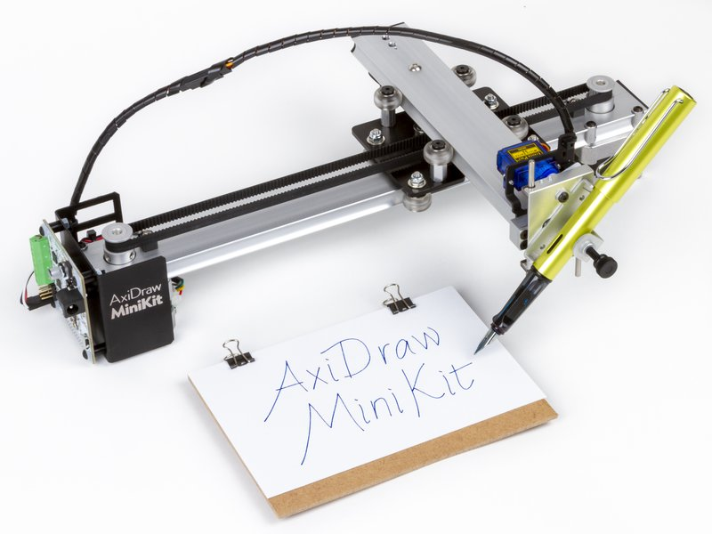 AxiDraw MiniKit, shown with a fountain pen