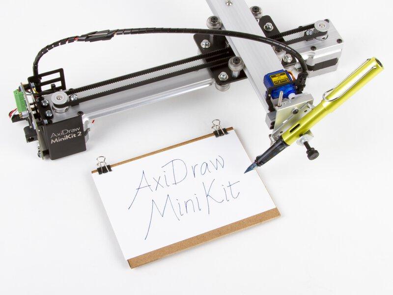 AxiDraw MiniKit 2, shown with a fountain pen