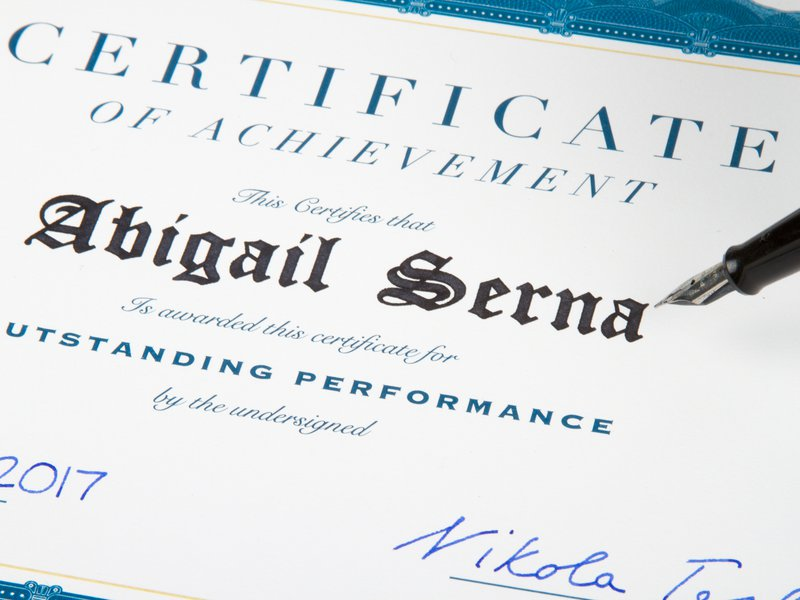 Personalize and sign diplomas and certificates