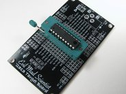 ATtinyX313 target board, assembled with ZIF socket