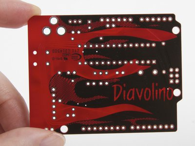 Diavolino: Bottom side of circuit board