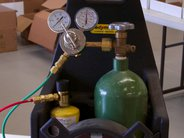 Oxygen and MAPP gas cylinders