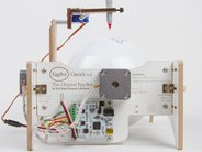 Ostrich EggBot, showing egg motor and driver board