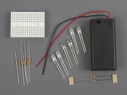 Solderless Flickery Flame Kit Parts