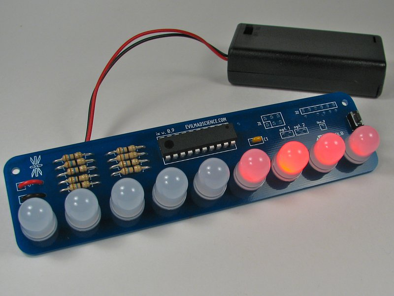Larson Scanner Kit after assembly, with 10 mm LED option