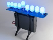 Deluxe LED Menorah Kit, with 10 mm blue LEDs