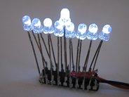 Mini Menorah Kit, 3 mm white LEDs