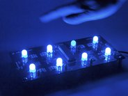 Octolively, with ultrabright blue LEDs