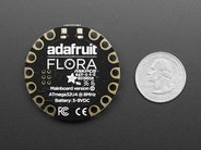Adafruit Flora (back, with quarter for scale)