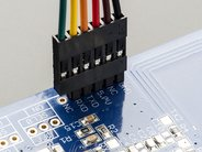PN532 NFC/RFID controller breakout board closeup with cable (not included)