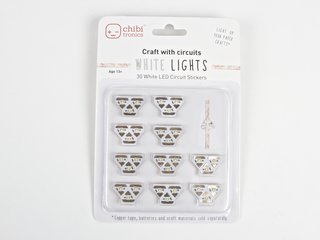 White LEDs MegaPack (30 Circuit Stickers)