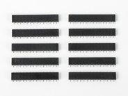Set of ten 14-pin strips shown in carrier sockets