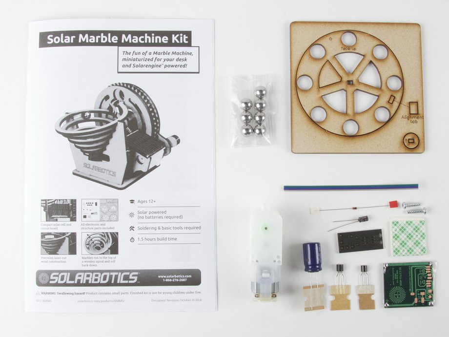 solar marble machine kit
