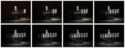 LED menorah