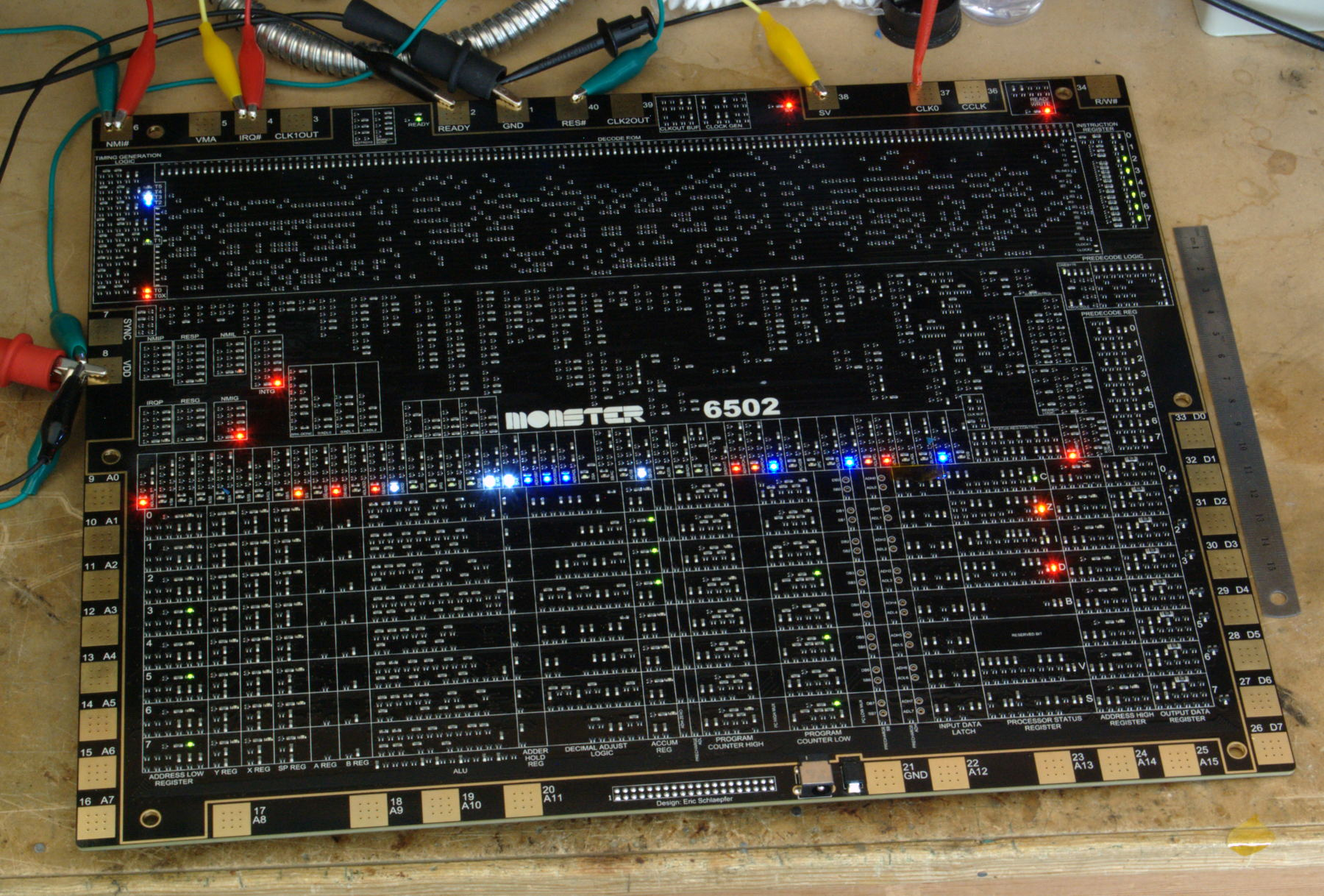 MOnSter 6502 (assembled prototype, on the work bench)