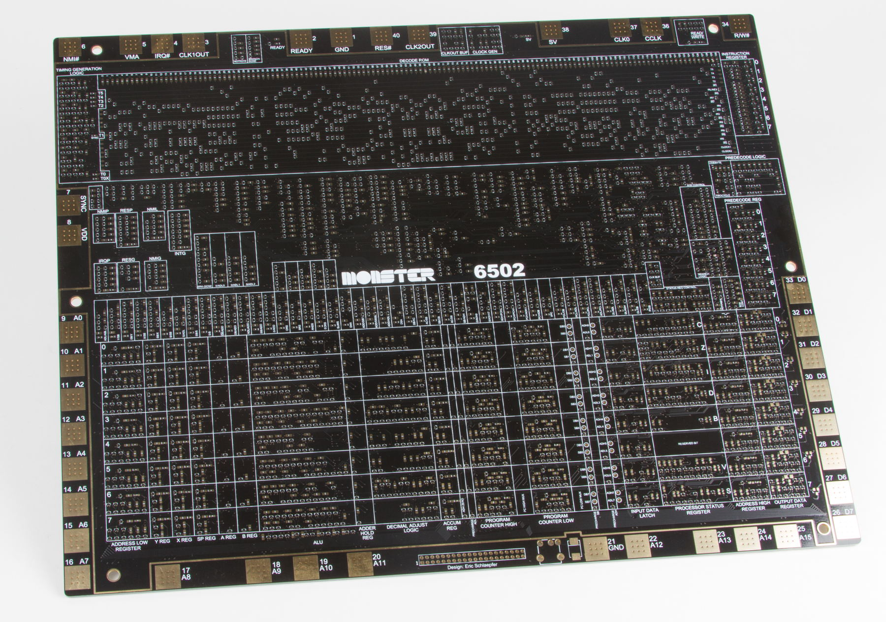 MOnSter 6502 (prototype PCB)